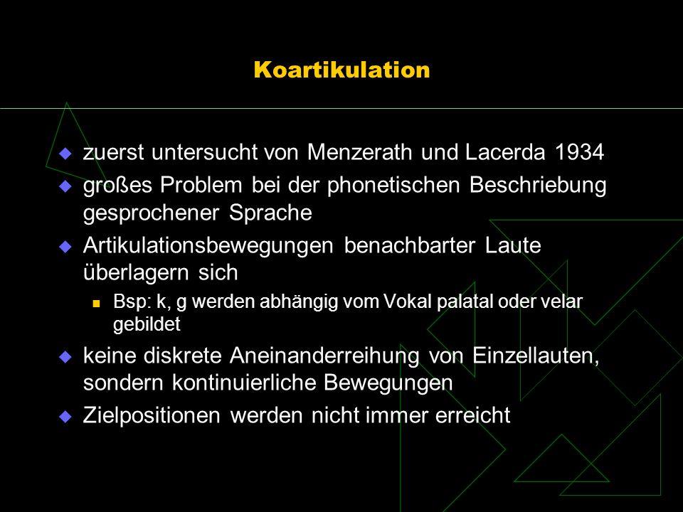 zuerst untersucht von Menzerath und Lacerda 1934