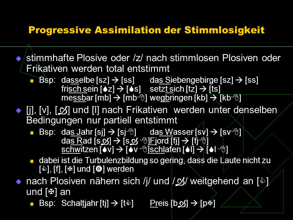 Progressive Assimilation der Stimmlosigkeit