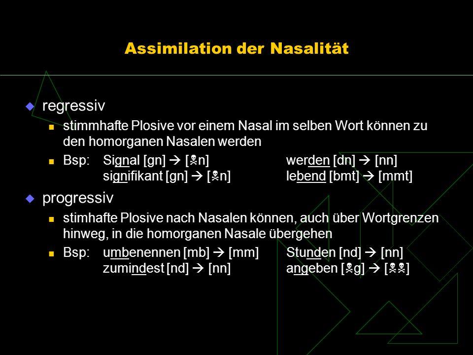 Assimilation der Nasalität