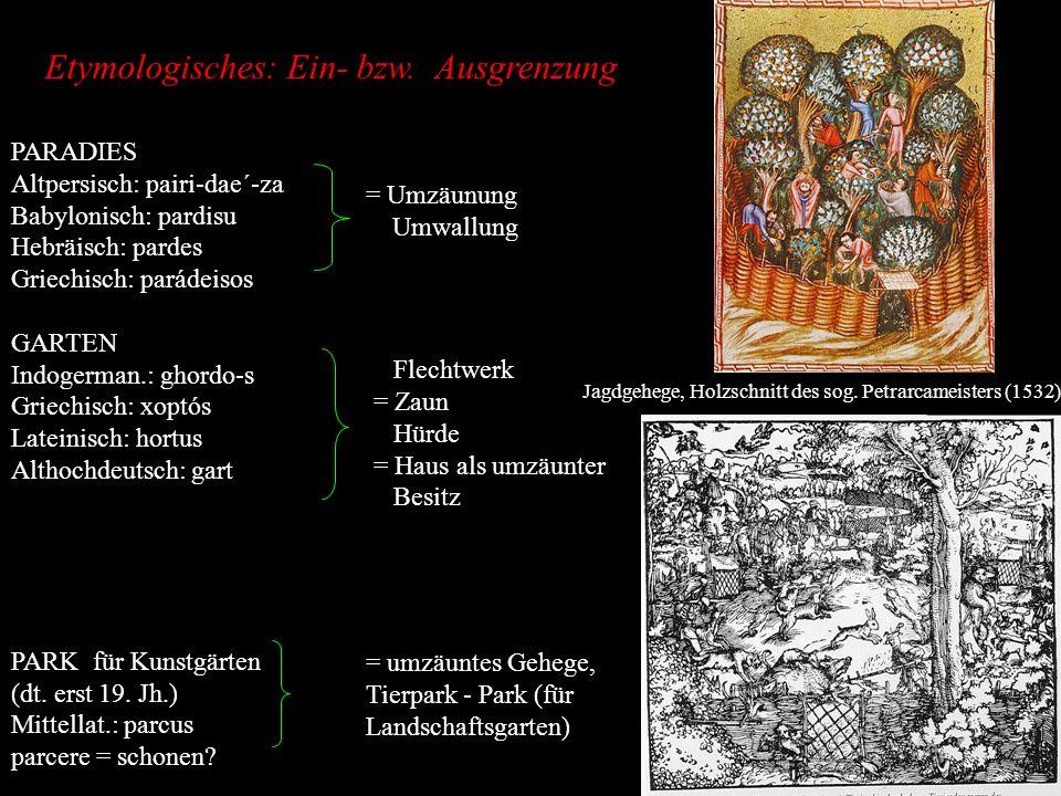 Etymologisches: Ein- bzw. Ausgrenzung