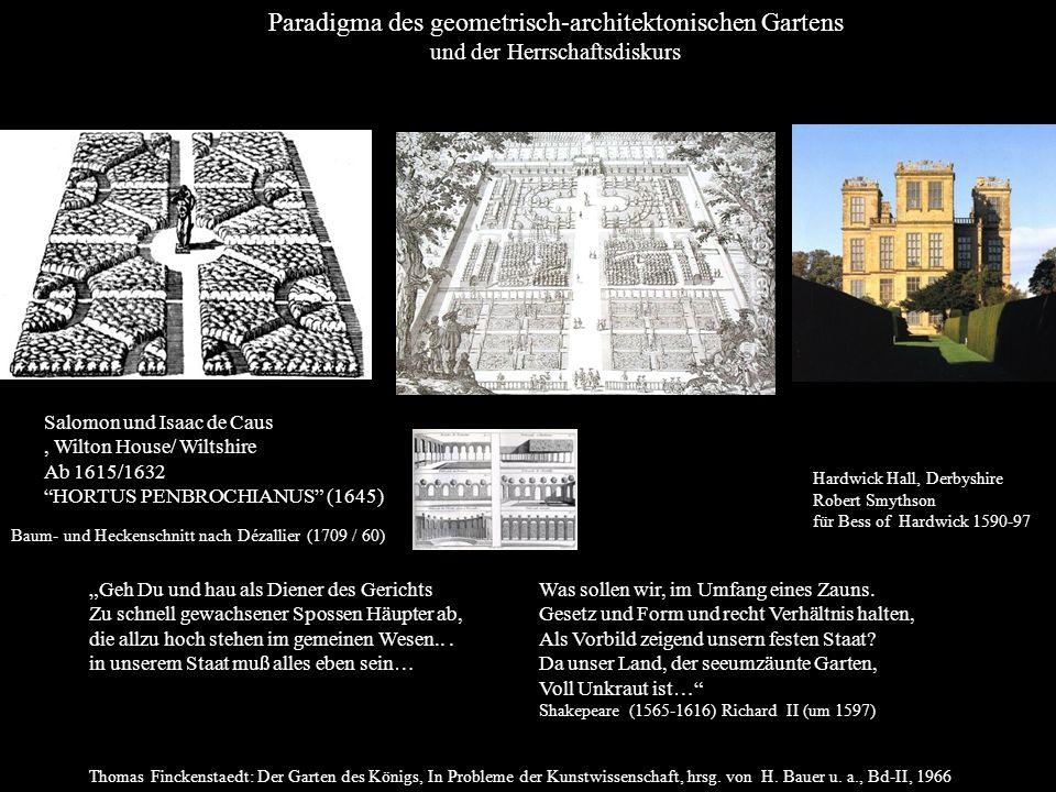 Paradigma des geometrisch-architektonischen Gartens
