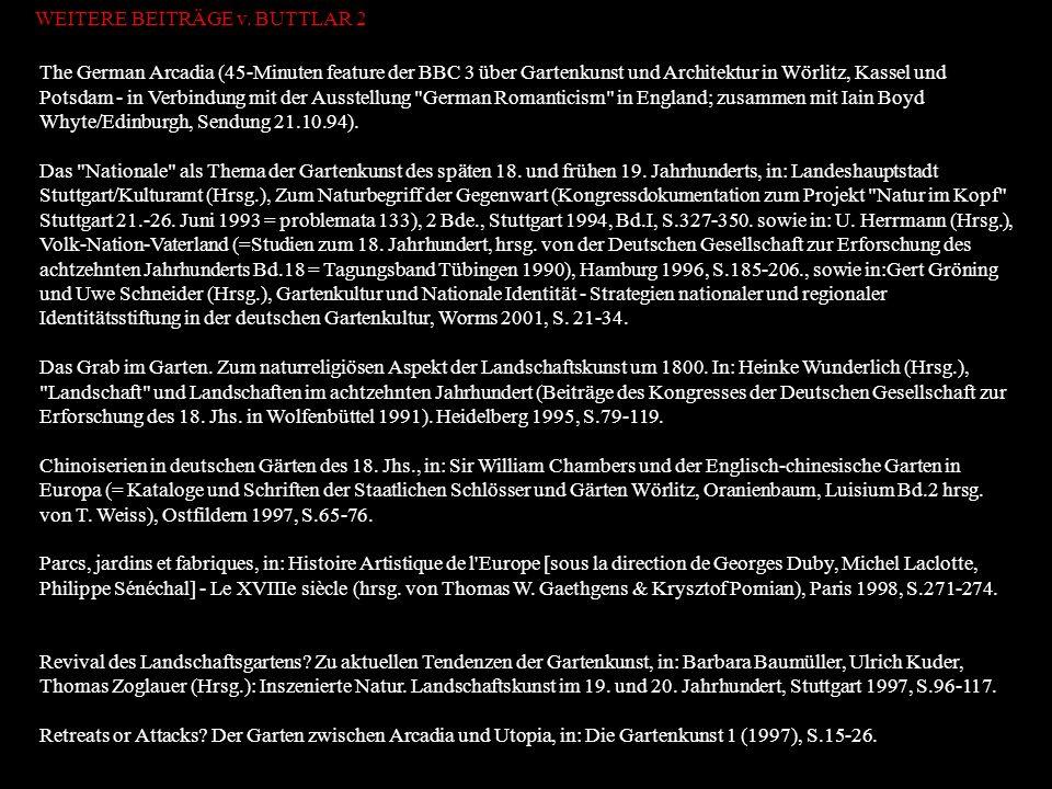 WEITERE BEITRÄGE v. BUTTLAR 2