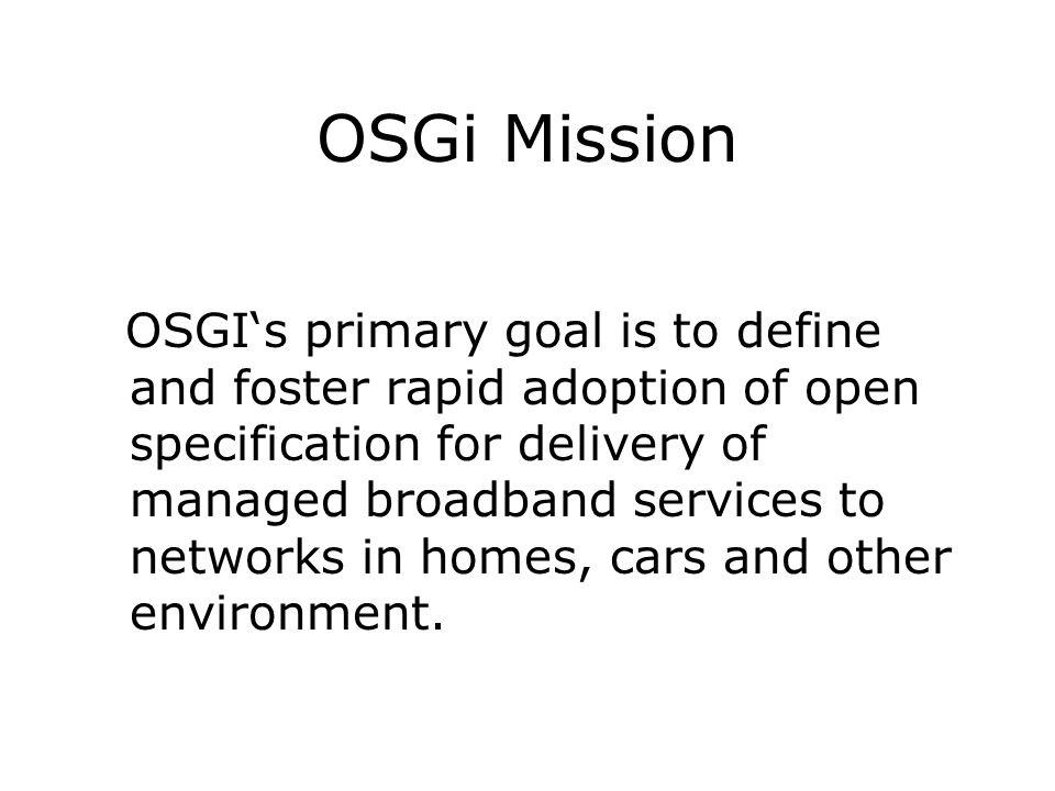 OSGi Mission