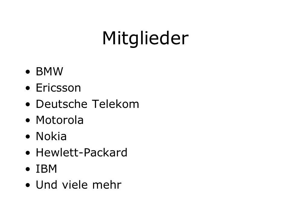 Mitglieder BMW Ericsson Deutsche Telekom Motorola Nokia