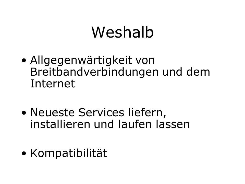 Weshalb Allgegenwärtigkeit von Breitbandverbindungen und dem Internet
