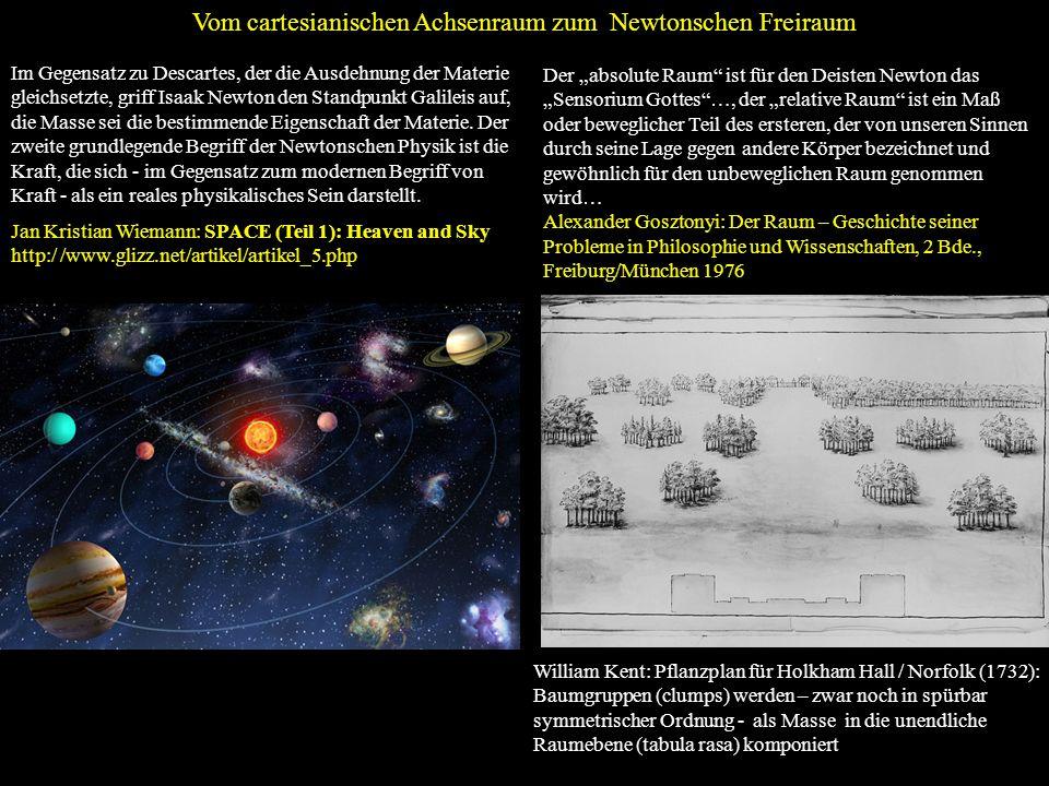 Vom cartesianischen Achsenraum zum Newtonschen Freiraum