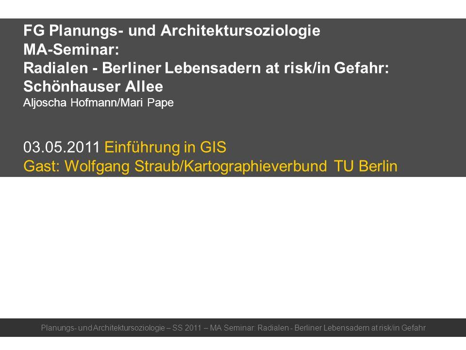 FG Planungs- und Architektursoziologie MA-Seminar: