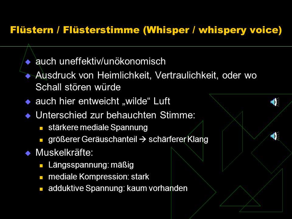 Flüstern / Flüsterstimme (Whisper / whispery voice)