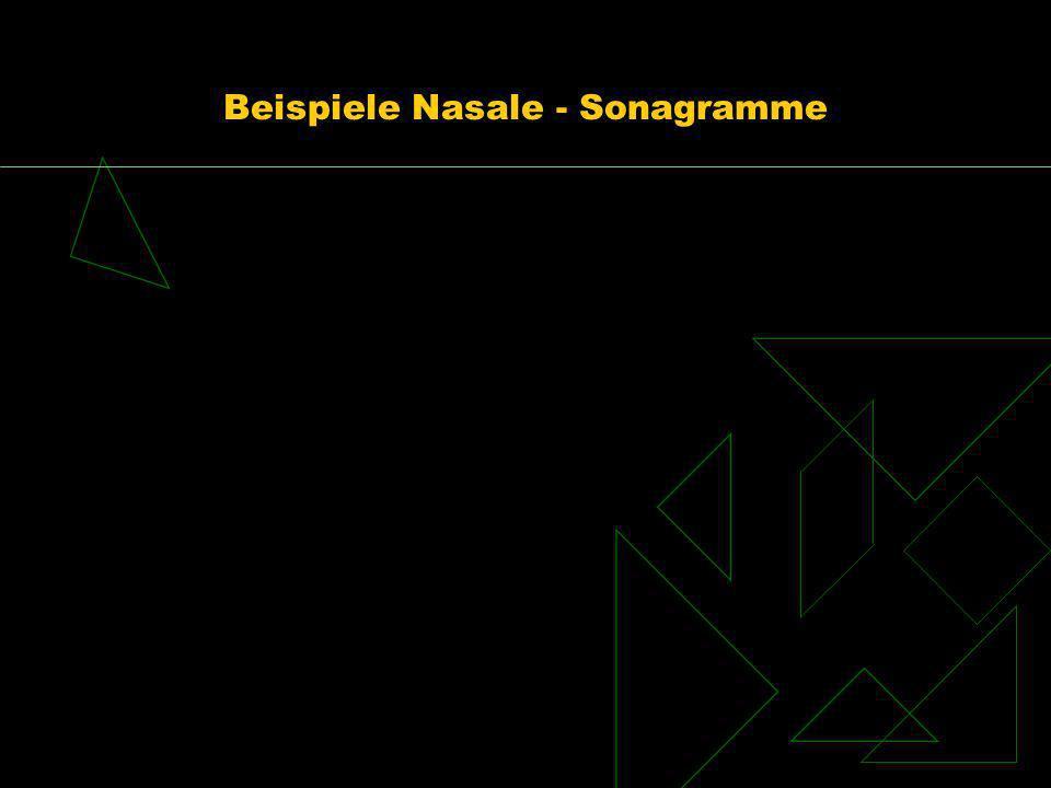 Beispiele Nasale - Sonagramme