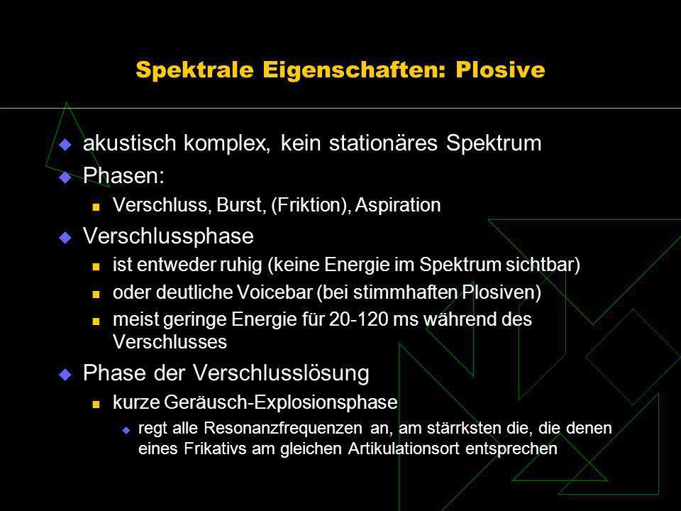 Spektrale Eigenschaften: Plosive