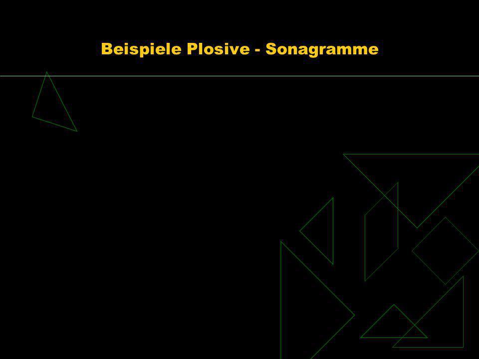 Beispiele Plosive - Sonagramme