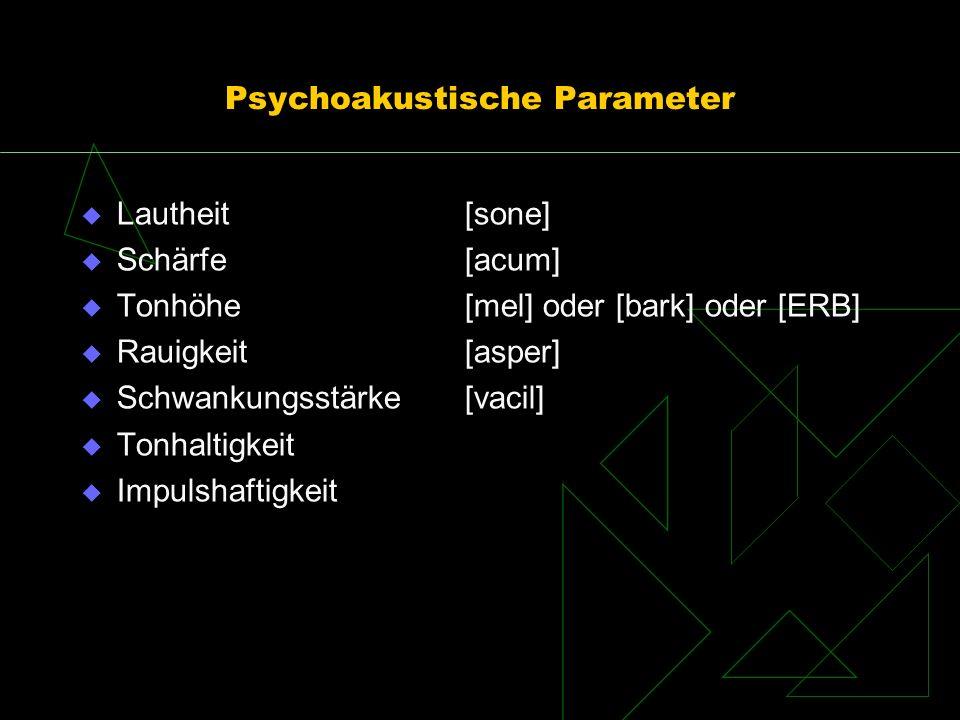 Psychoakustische Parameter