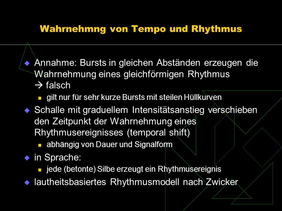 Wahrnehmng von Tempo und Rhythmus