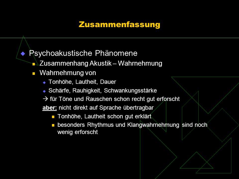 Psychoakustische Phänomene