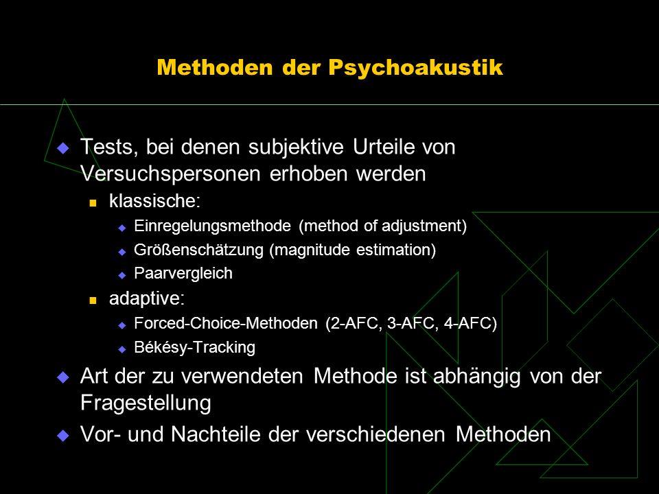 Methoden der Psychoakustik