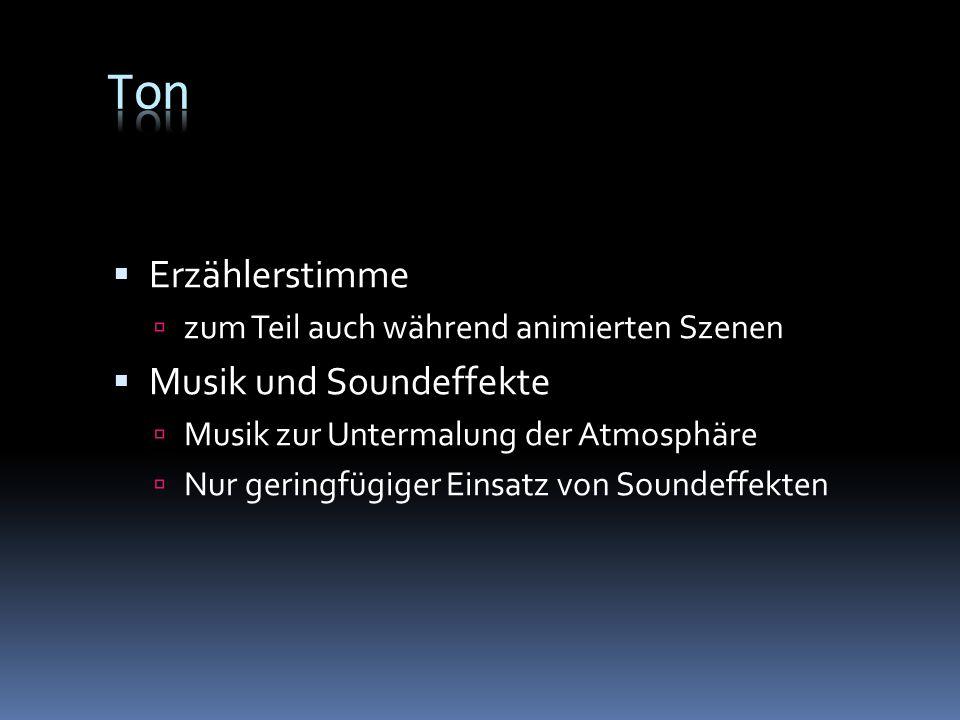 Ton Erzählerstimme Musik und Soundeffekte