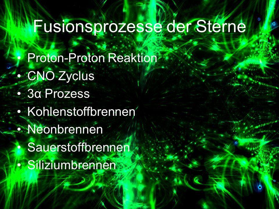 Fusionsprozesse der Sterne