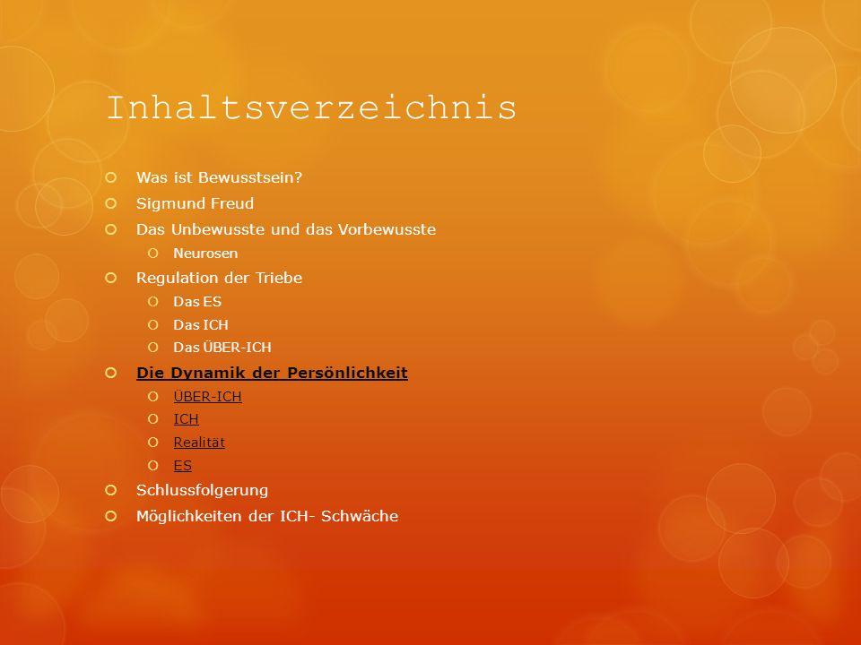 Inhaltsverzeichnis Was ist Bewusstsein Sigmund Freud