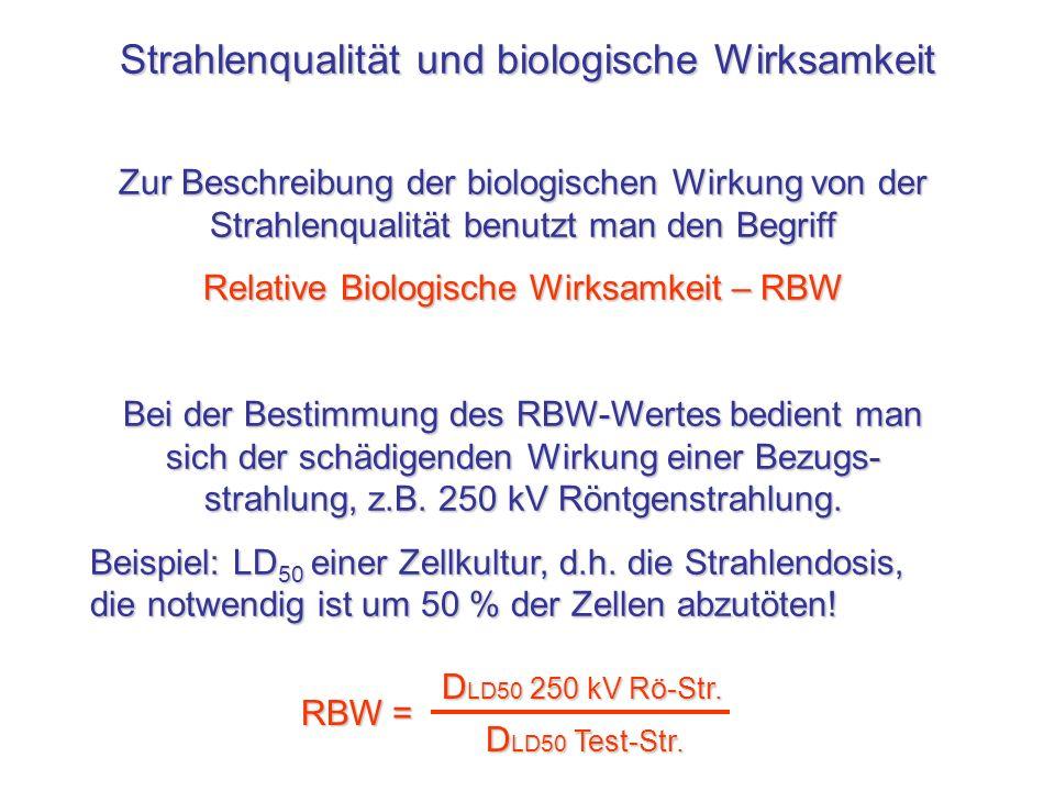 Strahlenqualität und biologische Wirksamkeit