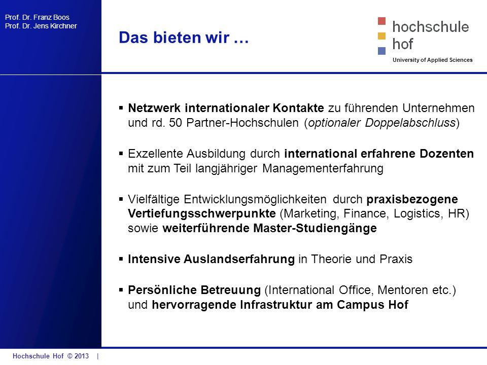 Das bieten wir … Netzwerk internationaler Kontakte zu führenden Unternehmen und rd. 50 Partner-Hochschulen (optionaler Doppelabschluss)