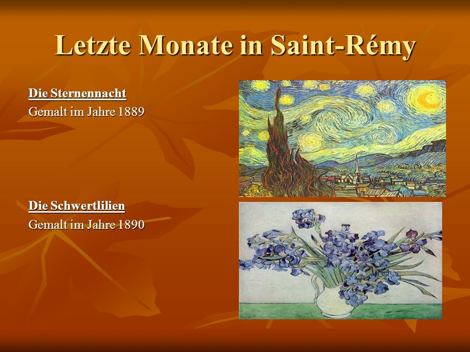 Letzte Monate in Saint-Rémy