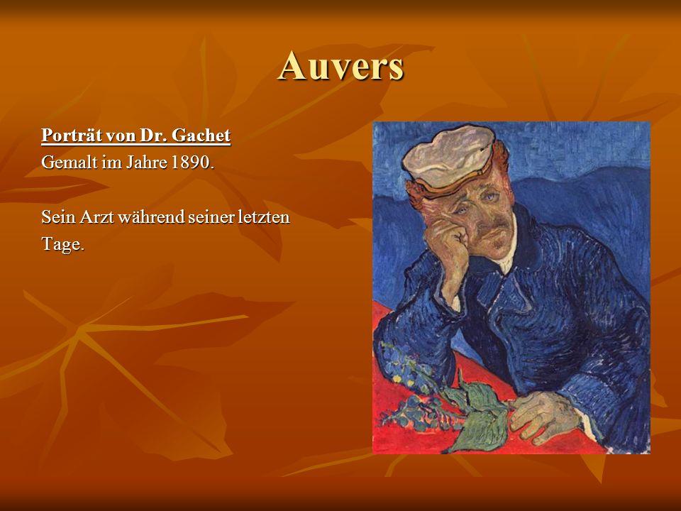 Auvers Porträt von Dr. Gachet Gemalt im Jahre 1890.