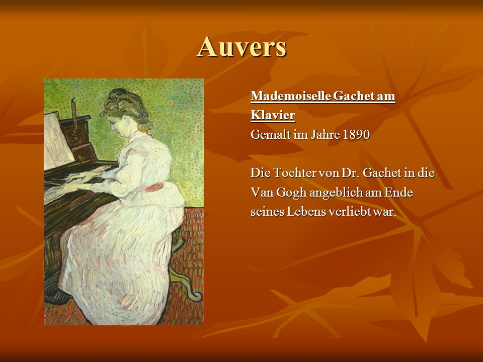 Auvers Mademoiselle Gachet am Klavier Gemalt im Jahre 1890