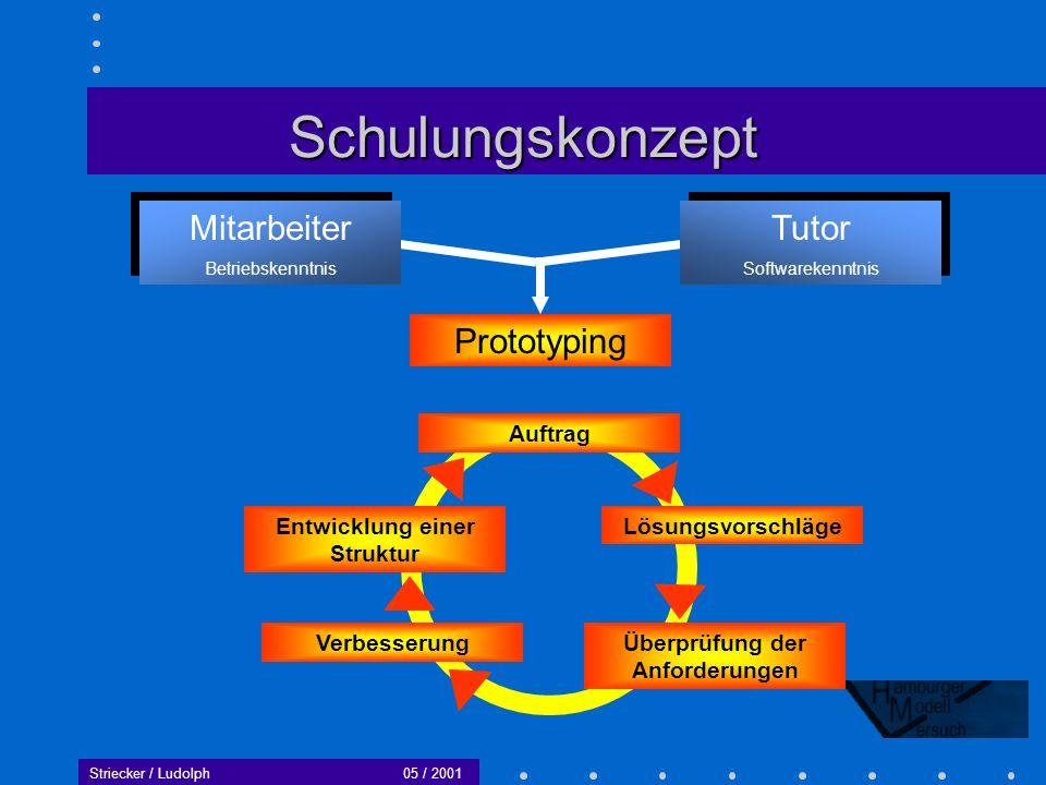 Entwicklung einer Struktur Überprüfung der Anforderungen