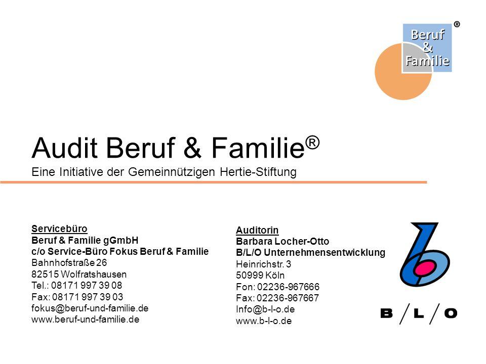 Audit Beruf & Familie® Eine Initiative der Gemeinnützigen Hertie-Stiftung