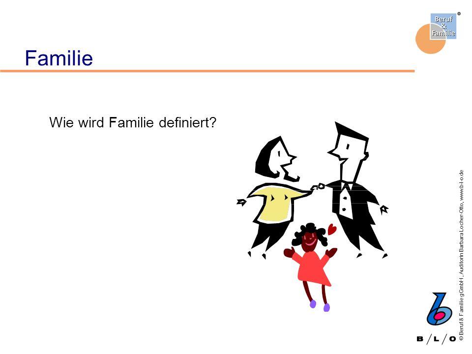 Familie Wie wird Familie definiert