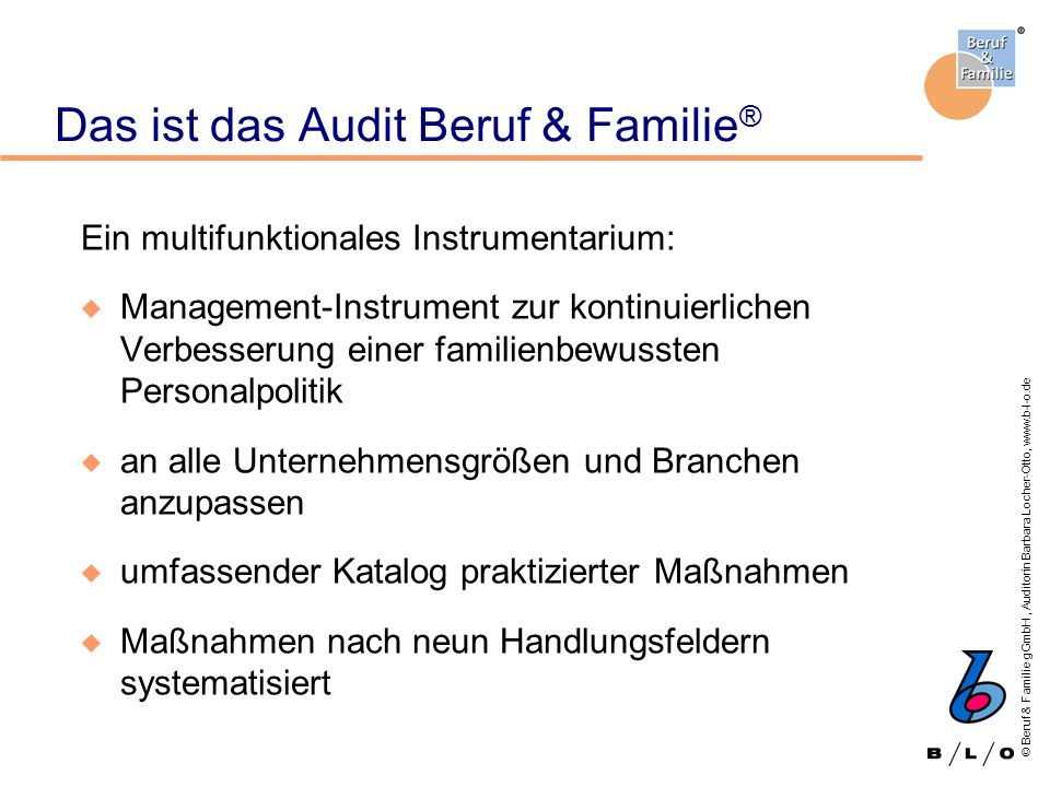 Das ist das Audit Beruf & Familie®