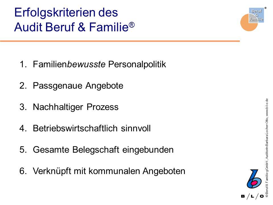 Erfolgskriterien des Audit Beruf & Familie®