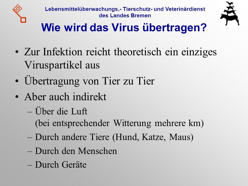 Wie wird das Virus übertragen