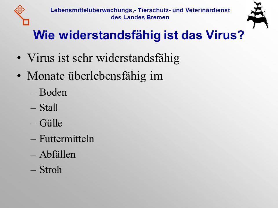 Wie widerstandsfähig ist das Virus
