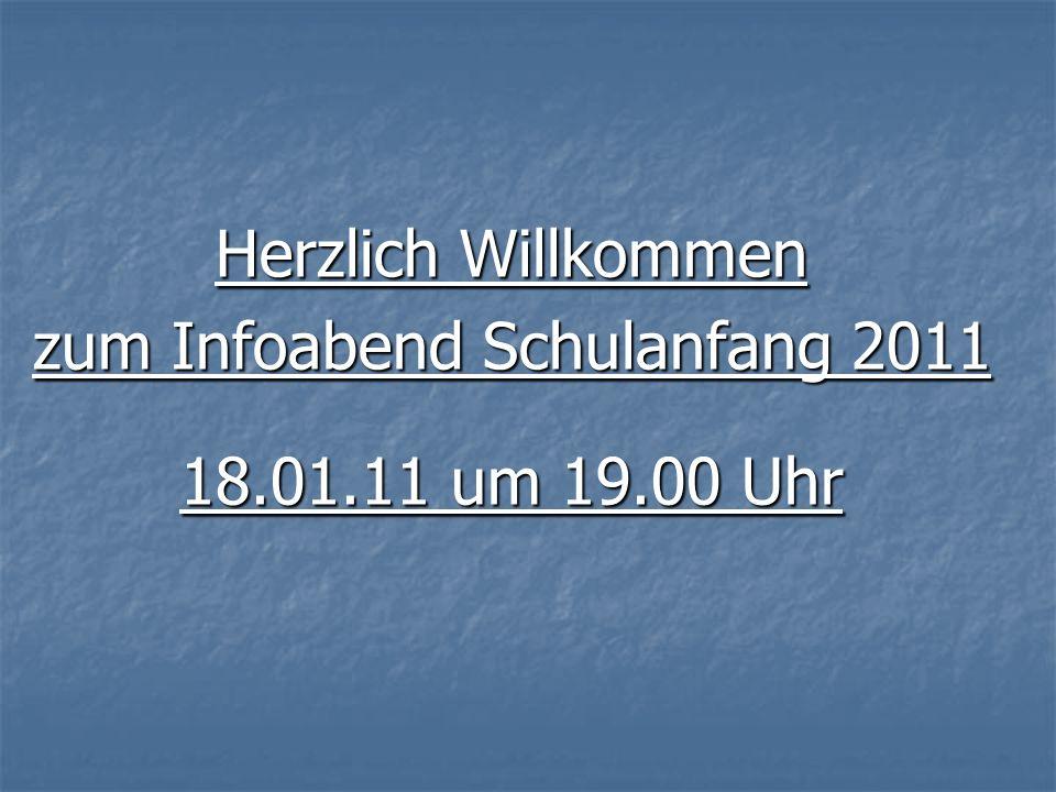 zum Infoabend Schulanfang 2011
