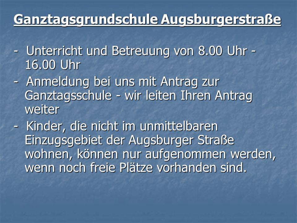 Ganztagsgrundschule Augsburgerstraße