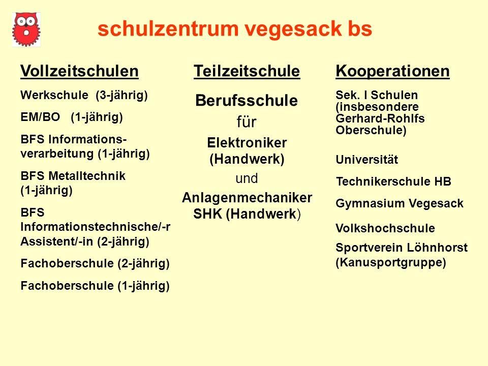 schulzentrum vegesack bs Elektroniker (Handwerk)