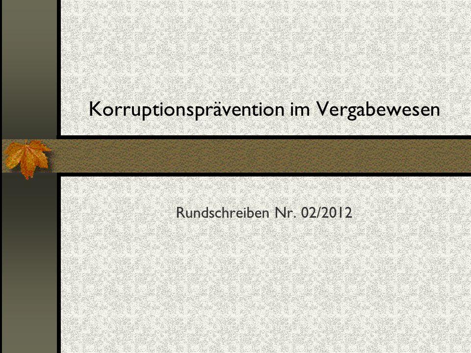 Korruptionsprävention im Vergabewesen