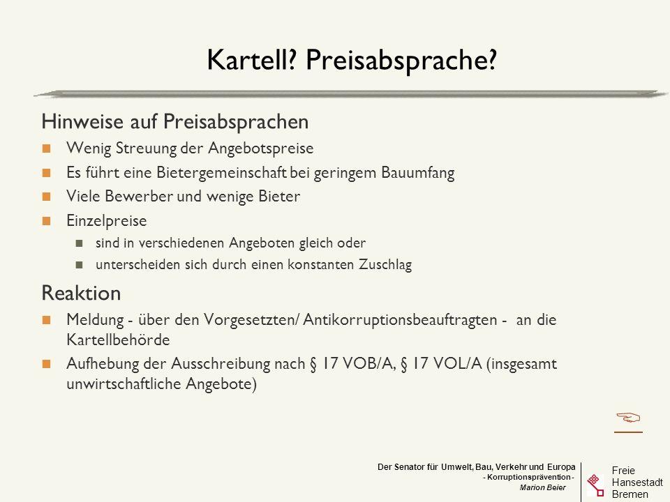 Kartell Preisabsprache