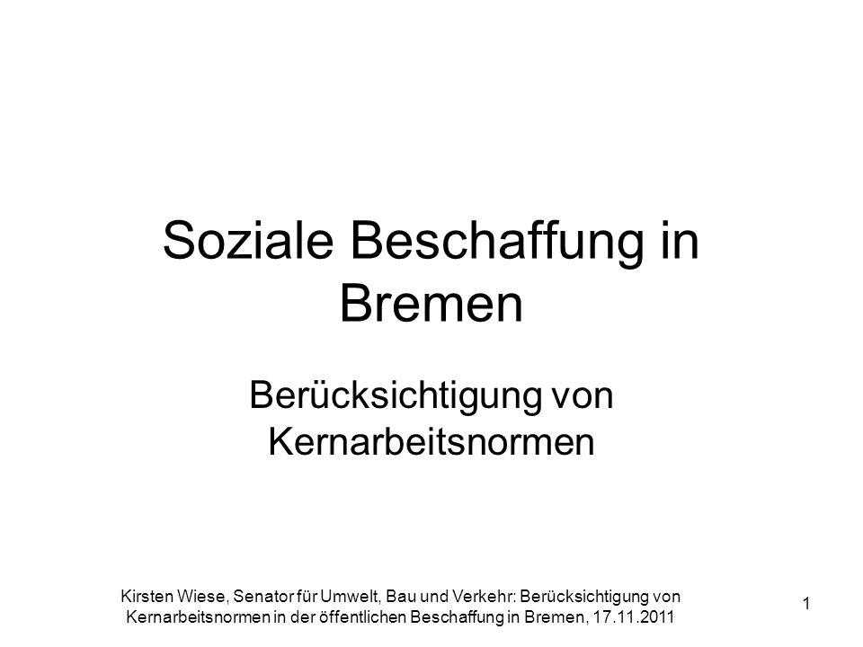 Soziale Beschaffung in Bremen