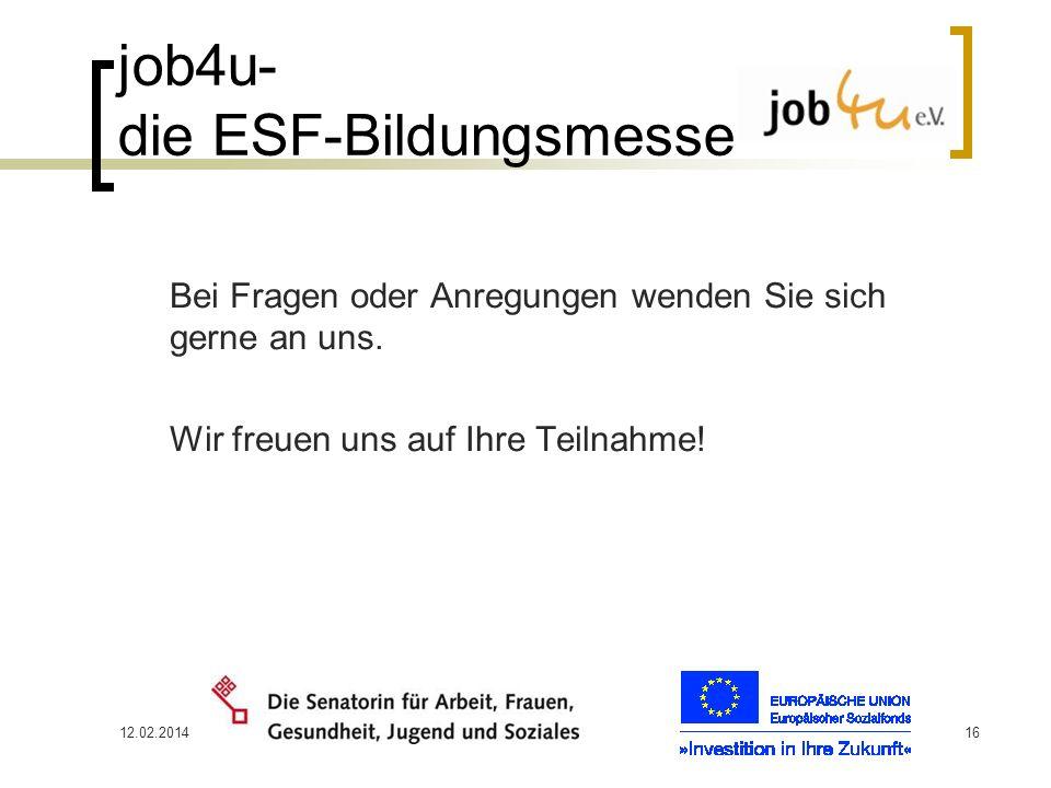 job4u- die ESF-Bildungsmesse