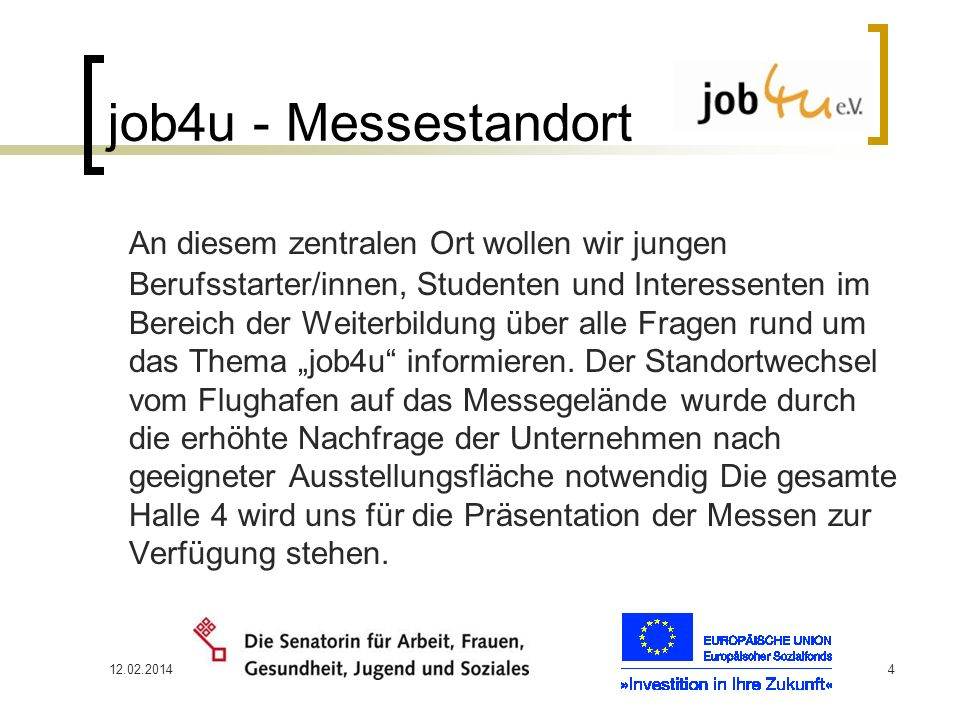 job4u - Messestandort