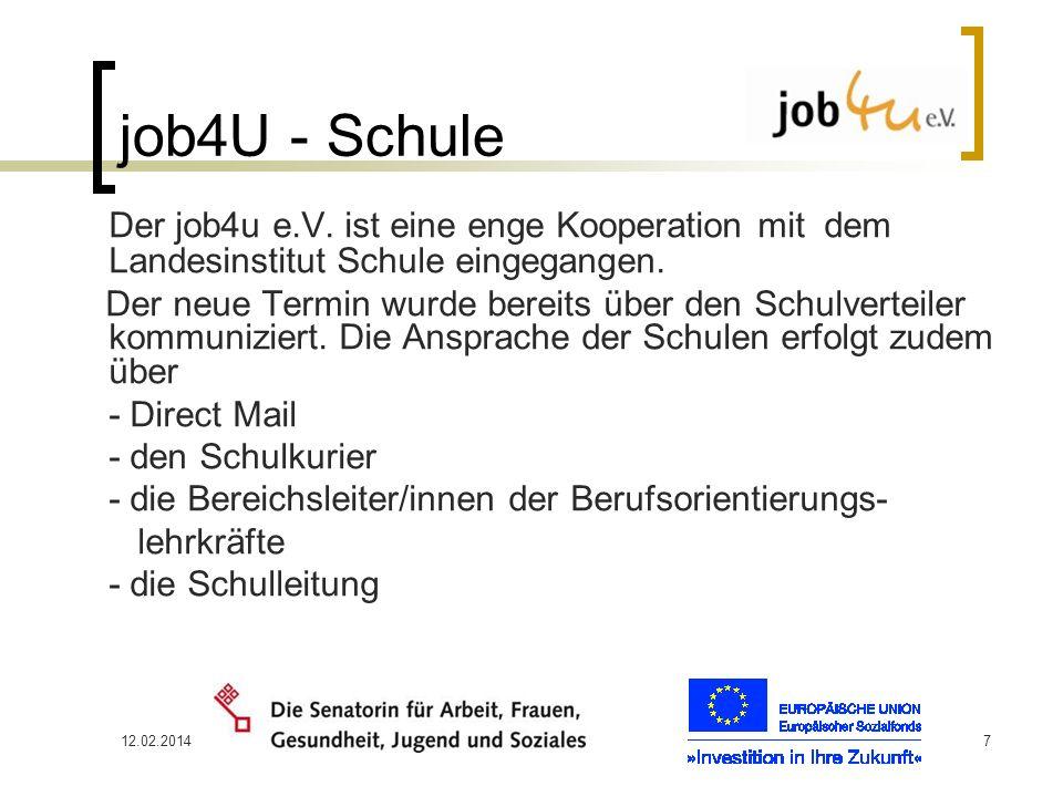 job4U - Schule Der job4u e.V. ist eine enge Kooperation mit dem Landesinstitut Schule eingegangen.
