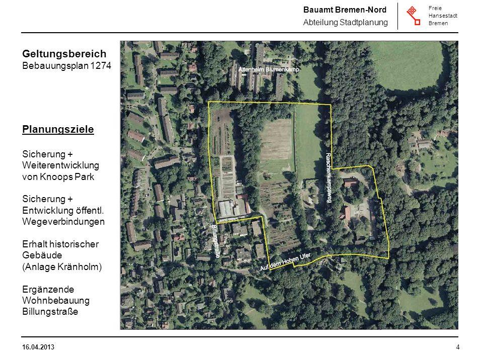 Geltungsbereich Planungsziele Bebauungsplan 1274