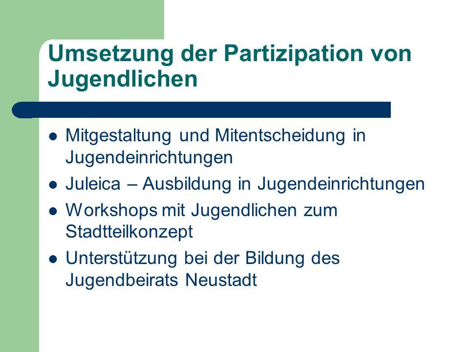 Umsetzung der Partizipation von Jugendlichen