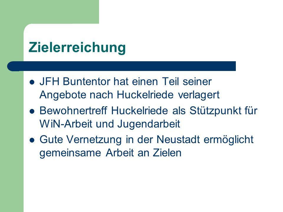 Zielerreichung JFH Buntentor hat einen Teil seiner Angebote nach Huckelriede verlagert.