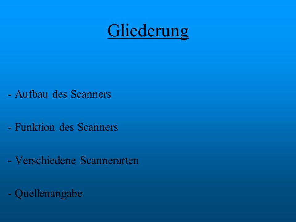 Gliederung Aufbau des Scanners Funktion des Scanners