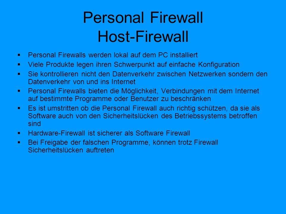 Personal Firewall Host-Firewall