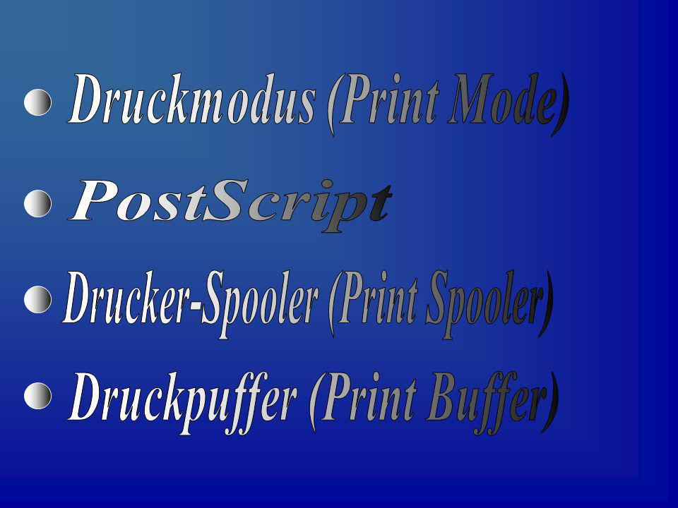 Druckmodus (Print Mode)