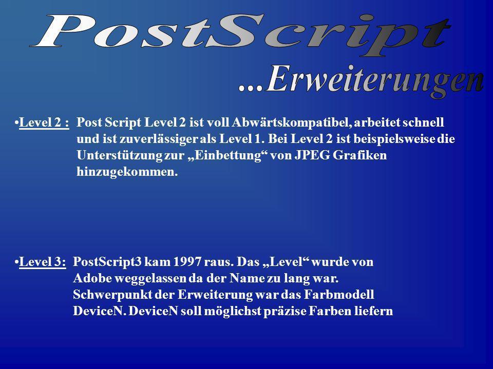 PostScript ...Erweiterungen
